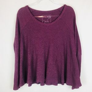 Free People | Wine Swing Thermal Top Size Small